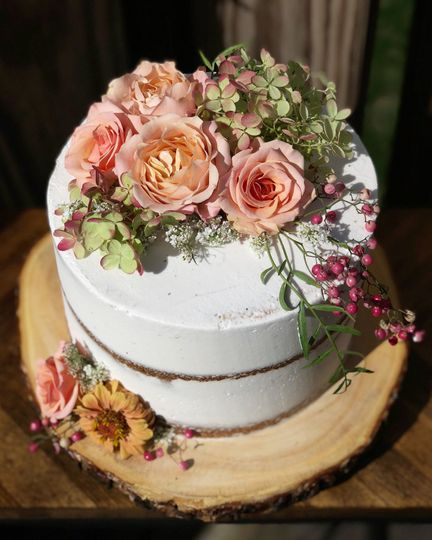 1 tier Naked cake
