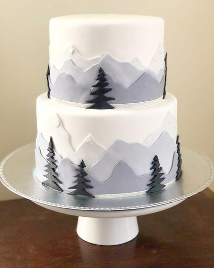 Winter wedding mountain theme