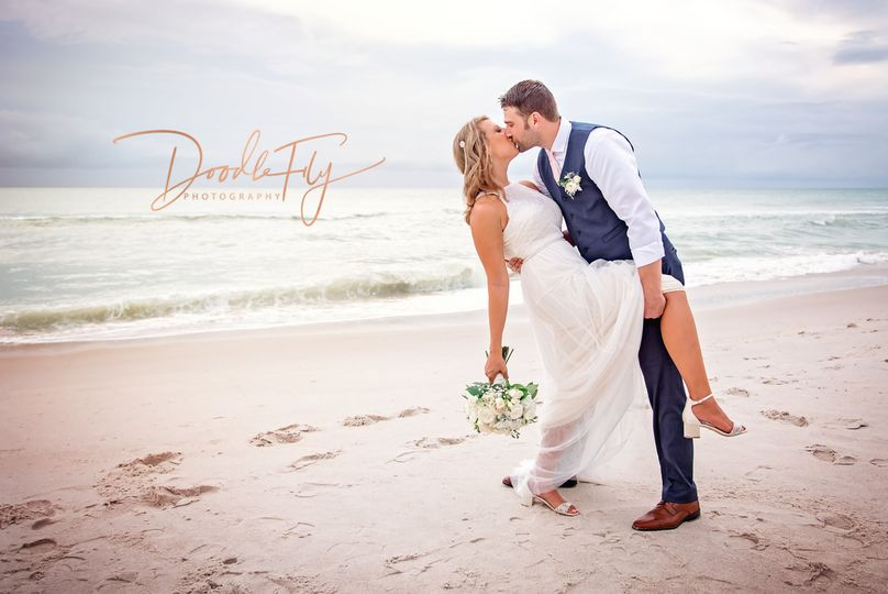 Bride & Groom Dip, Photography by Doodle Fly Photography at Naples Beach Hotel & Golf Course