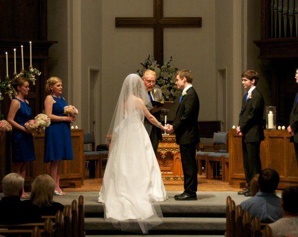 Church wedding by Pastor Greg
