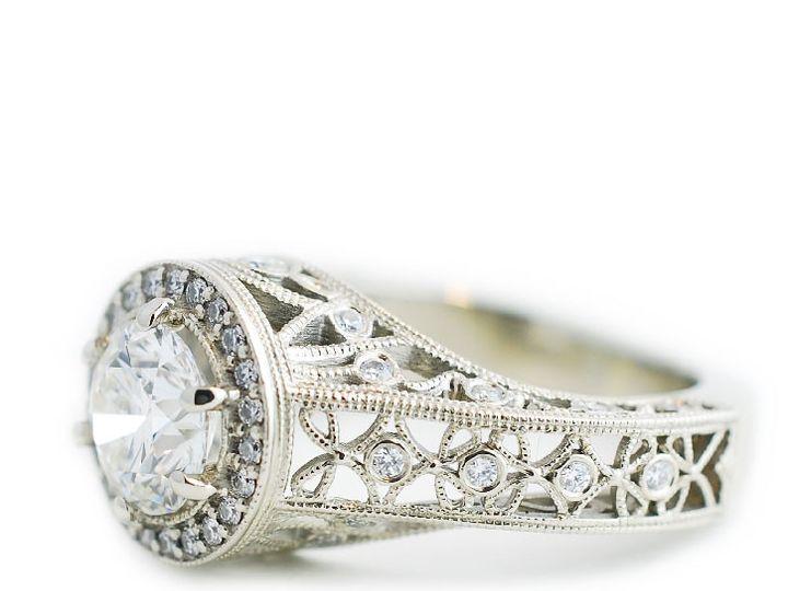 Tmx 1487712552448 Custom Engagement Ring White Gold Diamond Filiagre Denver, CO wedding jewelry