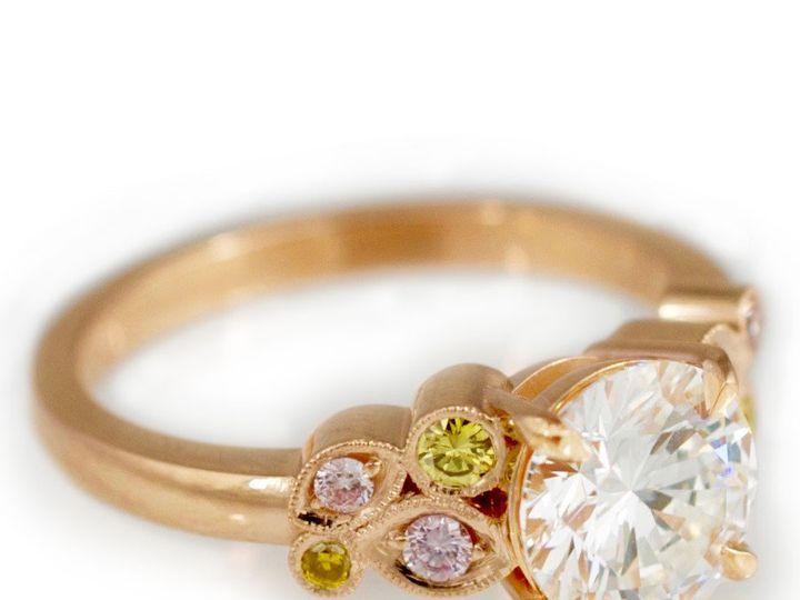 Tmx 1487712646440 14k Rose Gold Diamond Center Stone Pink And Yellow Denver, CO wedding jewelry