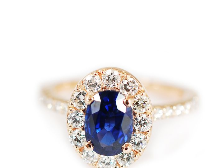 Tmx 1487712655000 14k Rose Gold With Sapphire Center Stone And Diamo Denver, CO wedding jewelry