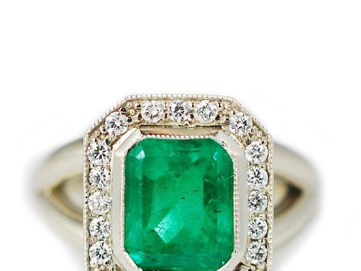 Tmx 1487712689247 14k White Gold With Emerald Center Stone And Diamo Denver, CO wedding jewelry