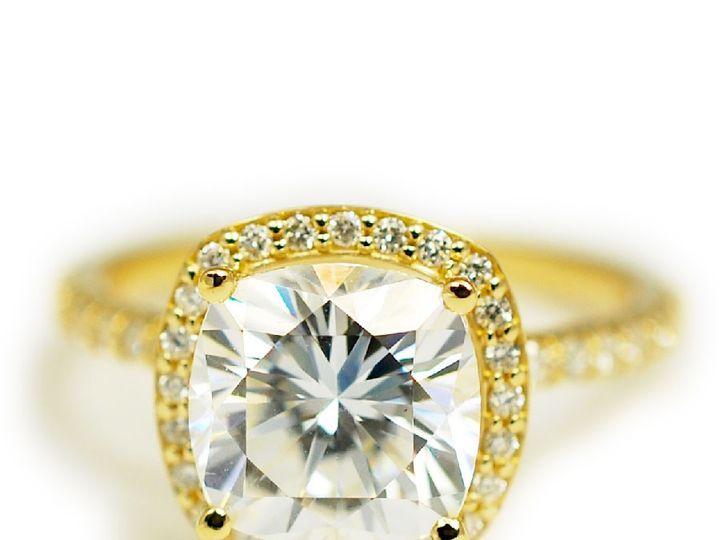 Tmx 1487712705659 14k Yellow Gold Antique Cut Moissanite Diamond Hal Denver, CO wedding jewelry