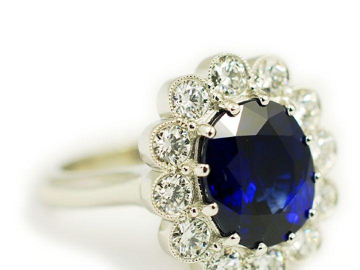 Tmx 1487712746156 Custom Engagement Ring Platinum Sapphire Diamonds  Denver, CO wedding jewelry