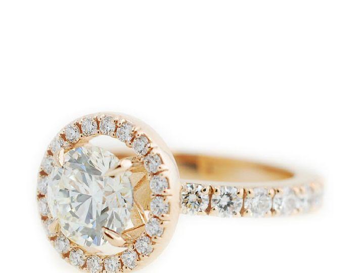 Tmx 1487712751952 Custom Engagement Ring Rose Gold Diamond Halo Kath Denver, CO wedding jewelry