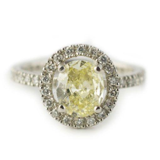 Tmx 1487712763622 Platinum Yellow Diamond Halo Custom Engagement Rin Denver, CO wedding jewelry