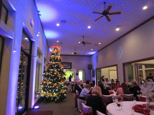 Wedding Reception at Oak Hurst Golf Club in Kingwood.  This very plain, ordinary room was...