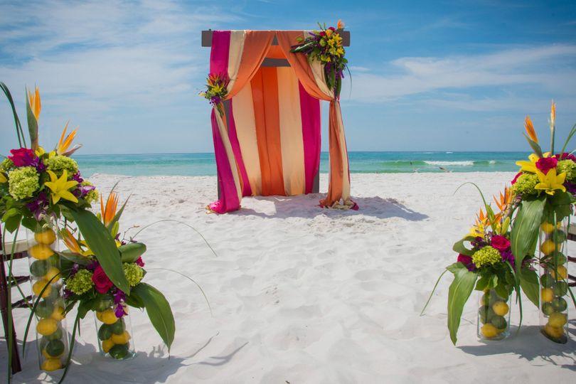 Wedding celebration area