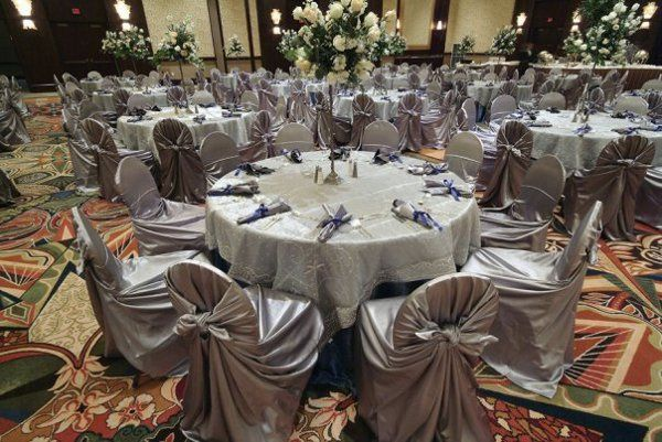 Metallic Silver Indian Beaded Overlays at Hilton America's