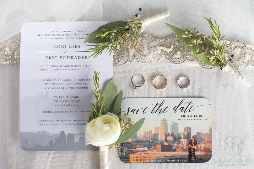 Wedding cards and rings | Sara Marie Photography
