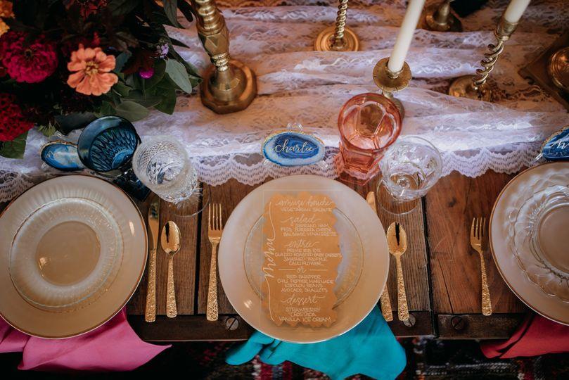 Table setting and menu card | Brittyn Elizabeth Photography