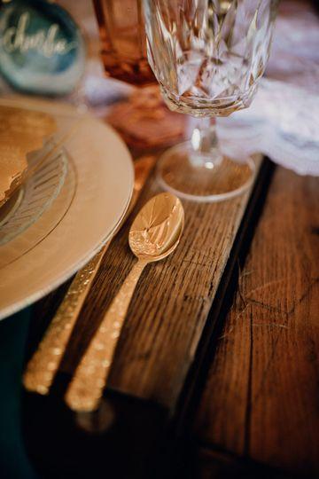 Cutlery and glassware | Brittyn Elizabeth Photography