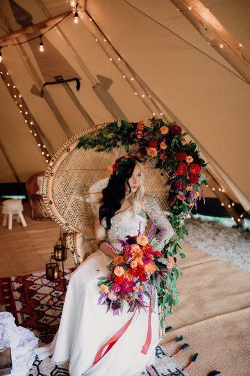Bride on her chair | Brittyn Elizabeth Photography
