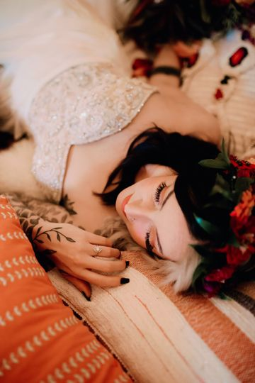 Bride lying down | Brittyn Elizabeth Photography