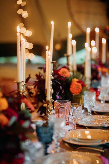 Candlelit dining setup | Brittyn Elizabeth Photography