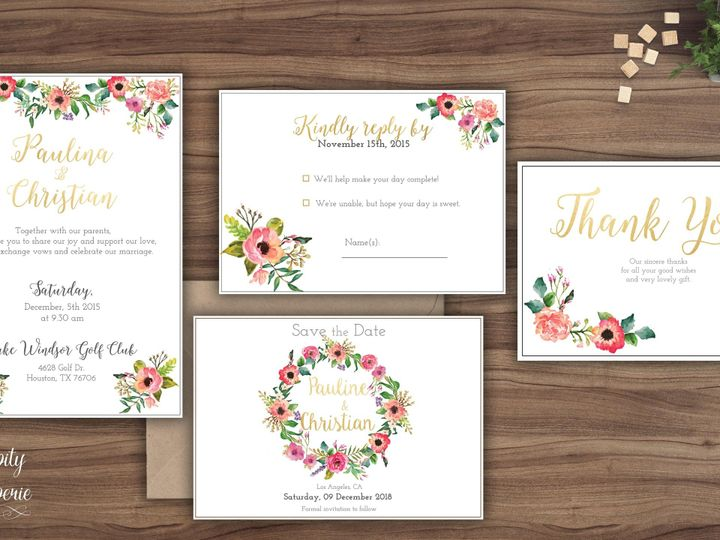 Tmx 1459968854350 Invitation Set Mockup North Wales wedding invitation