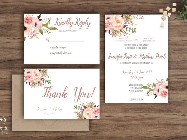 Tmx 1459969133464 Invitation Set Mockup North Wales wedding invitation