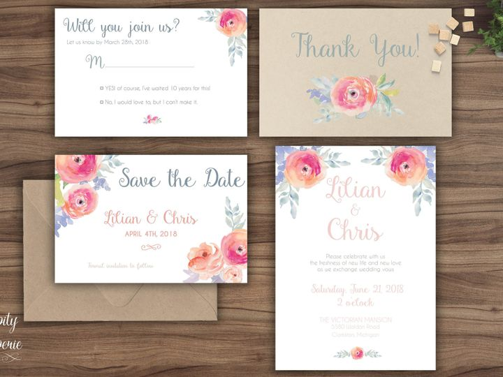 Tmx 1459969247506 Invitation Set Mockup North Wales wedding invitation