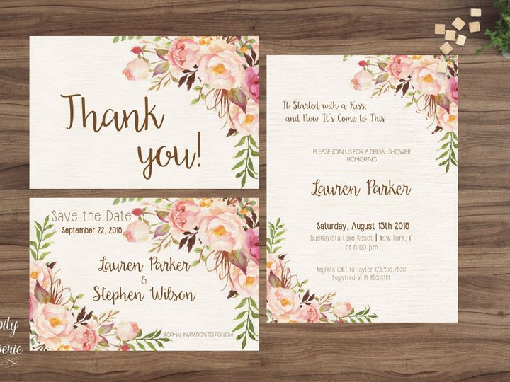 Tmx 1459980909485 Invitation Set Mockup North Wales wedding invitation