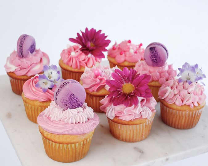 Fancy Cupcakes in Pink