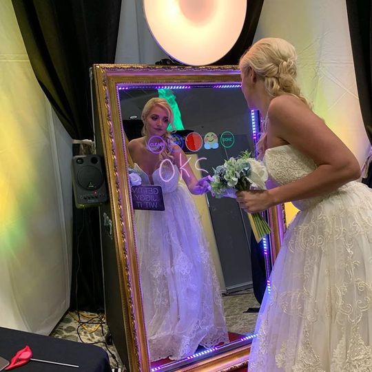 Our bride signing her creation