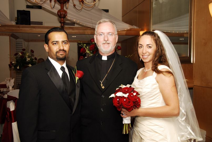 Newlyweds and the bishop