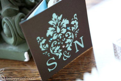 Damask Cut Out Invite