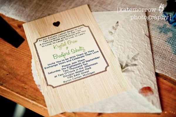 Wood Themed Invite