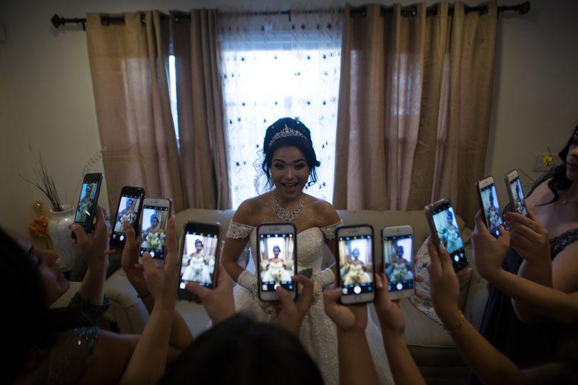 Radia bridesmaids phone