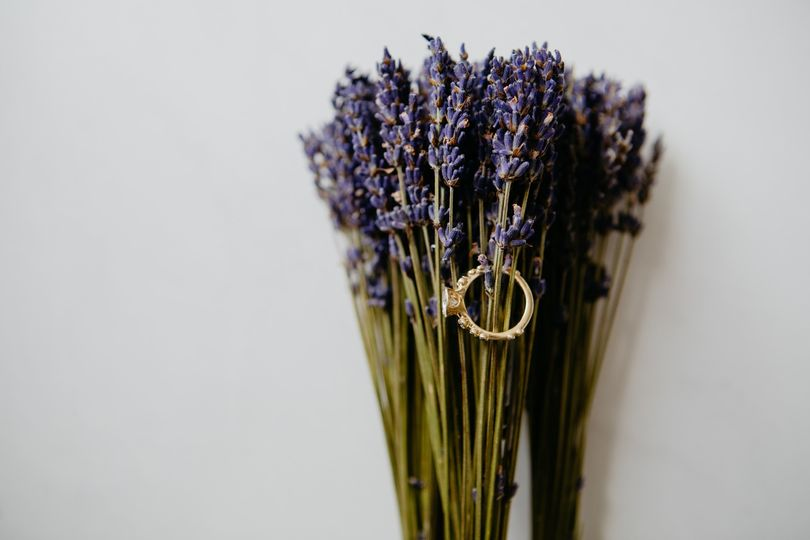 Lavender and engagement ring