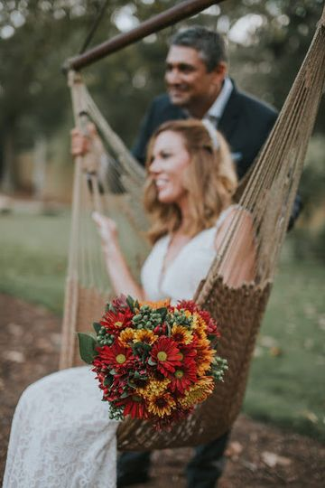 Beautiful fall themed bouquet created by rema events & rentals