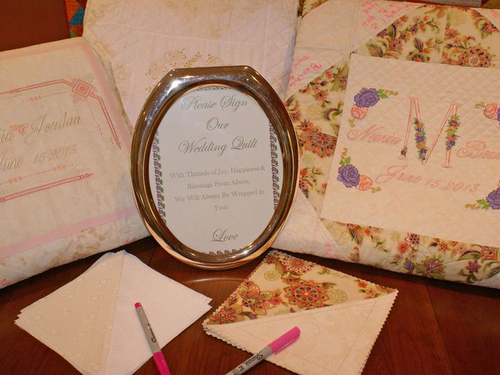 Tmx 1385130801569 Sign Our Quilt Leland wedding invitation