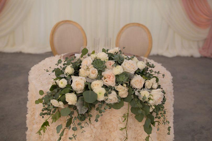Sweetheart table arrangements