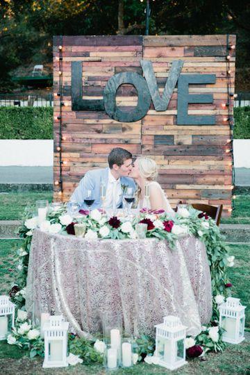 Kiss at the reception