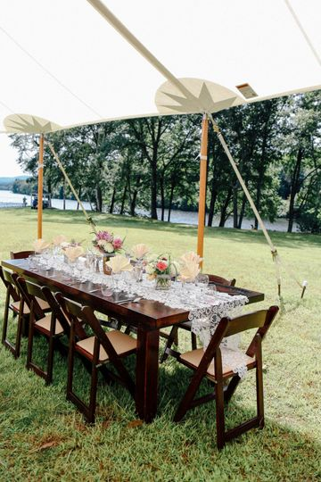 Farm tables and Wildflowers
