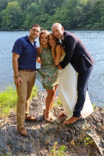 Wedding Guests, Bride & Groom