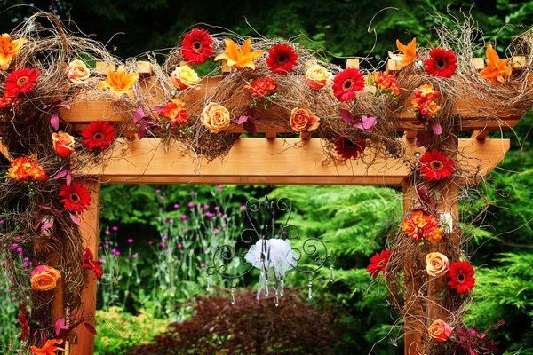 Decorated arbor