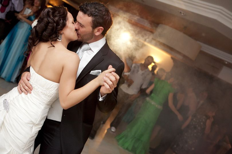 Couple kiss on the dance floor