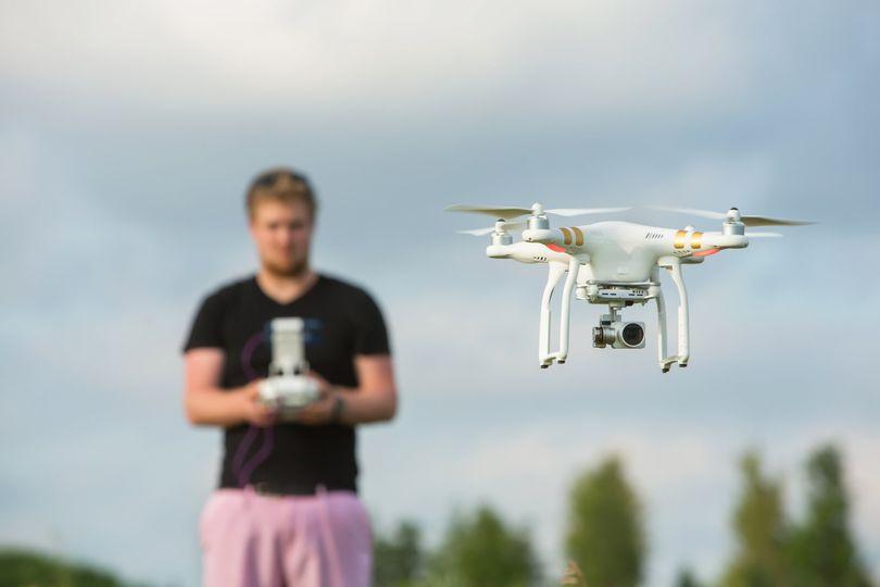 Drone taking flight
