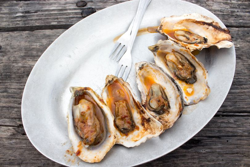 "BBQ oysters- converting those who ""don't like oysters"""
