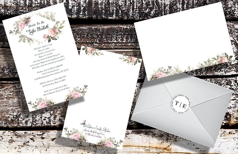 Floral invitation design