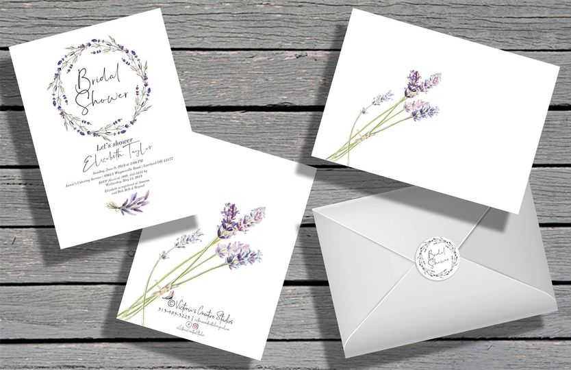 Lavender invitation design