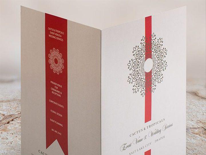 Tmx Cactus Tropicals Event And Wedding Folder Front And Back Open 51 1029887 Pontiac, Michigan wedding invitation