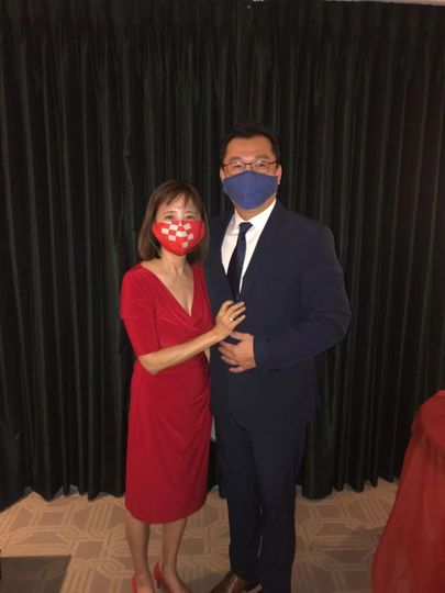 Beautiful couple even w/ masks