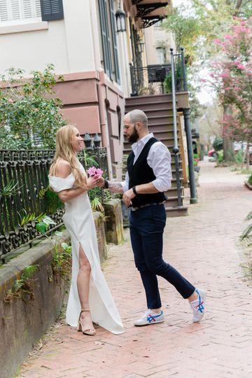 Bride & Groom in Savannah