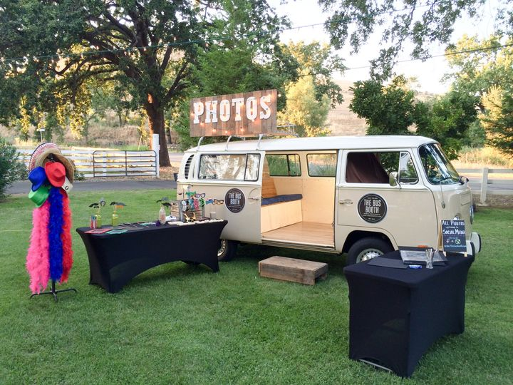 The Bus Booth ready for a beautiful reception at Gover Ranch Event Center in Anderson, CA.