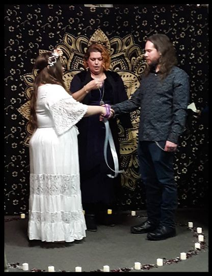 Lord & Lady hand-fast ceremony