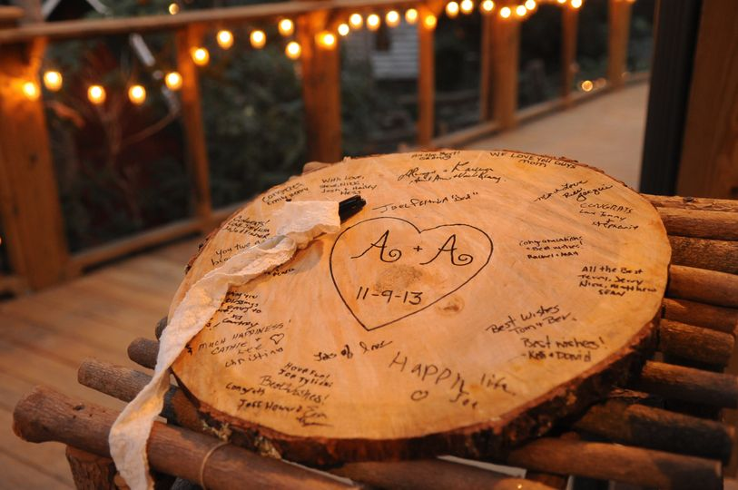 Guestbook in a wood